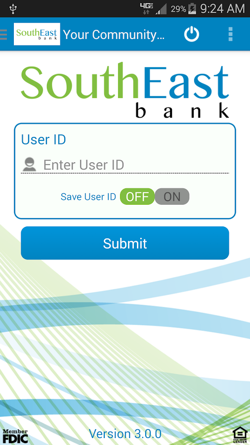 SouthEast Bank Mobile Banking - screenshot