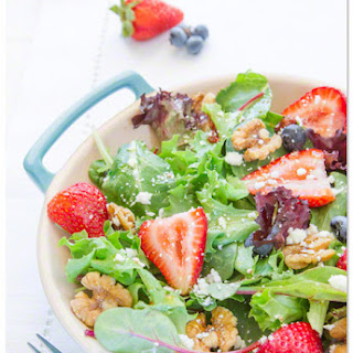 Baby Greens with Strawberry Dressing.