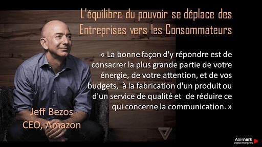 Jeff Bezos le pouvoir au consommateur