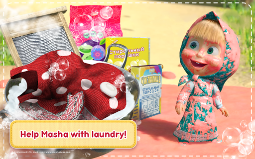Masha and the Bear: House Cleaning Games for Girls  screenshots 17