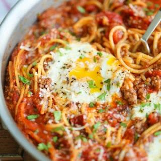 One Pot Spaghetti and Eggs