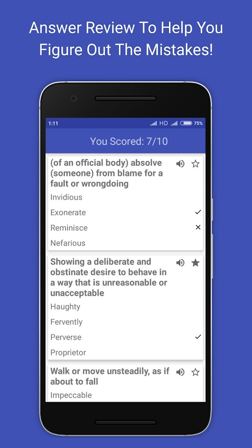 Vocabulary Builder- screenshot