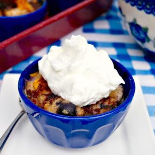 Mango Blueberry Bread Pudding.