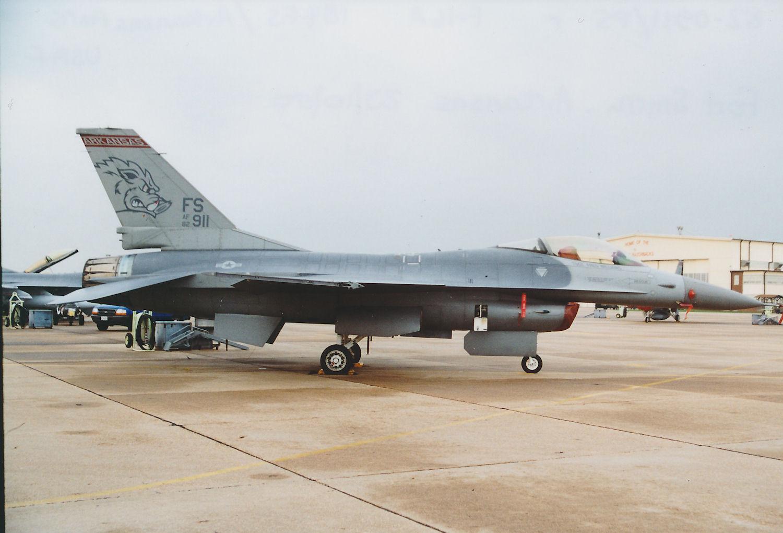 Photo: 82-0911/FS r/gy  F-16A  184FS/Arkansas ANG Fort Smith Municpal Airport/Ebbing ANGB Base Visit 23rd October 2000