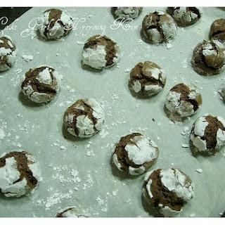 German Chocolate Crinkle Cookies.