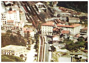 Photo: Raíña Vitoria e Estación do Tren en Campolongo. O Vergel (hoxe está o Instituto Sánchez Cantón) E na estación atópase o CEIP Campolongo