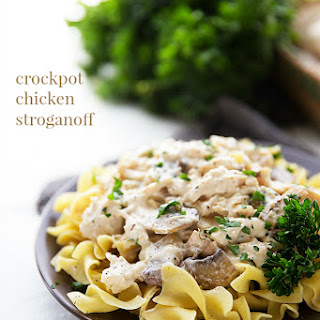 Crockpot Chicken Stroganoff (NO cream of soups)