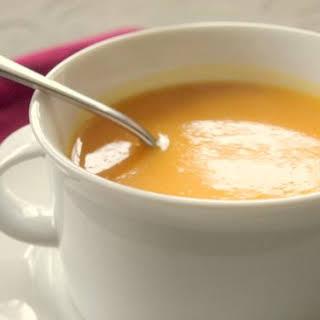 Butternut Squash & Sweet Potato Soup.