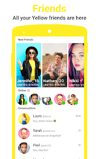 Yellow - Make new chat friends screenshot 03