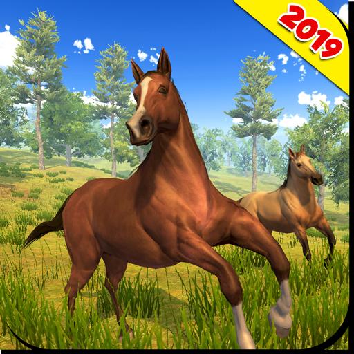 Wild Horse Family Simulator : Horse Games
