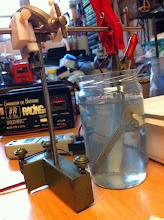 Photo: On commence par l'anodisation des pièces alu, la recette se trouve sur le net