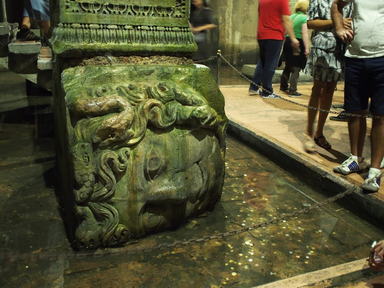 medusa head basilica cistern