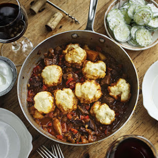 Easy Beef Goulash with Dumplings