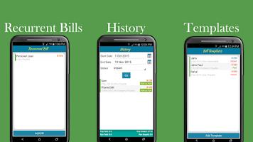 Screenshot of Bills Organizer with Sync