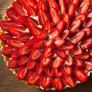 Strawberry Tart with Citrus Pastry Cream.