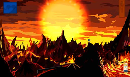 スケルトン火山からの脱出