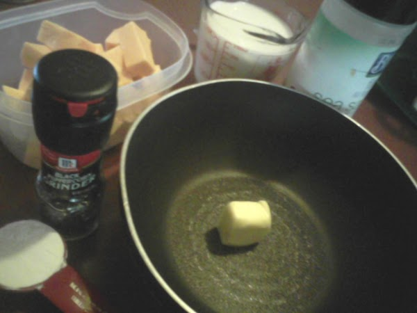 Melt the butter in a small saucepan.Remove from heat. Blend in flour till smooth...