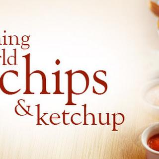 Slimming World chips and ketchup.