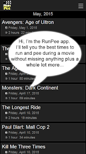 RunPee.- screenshot thumbnail