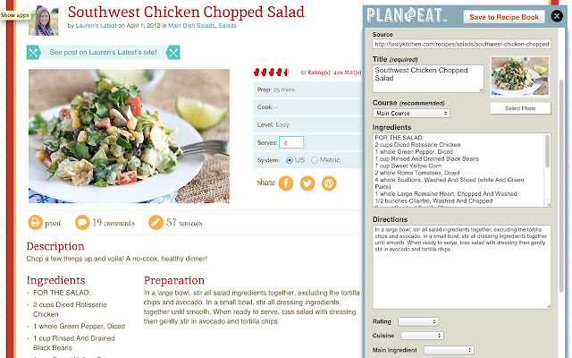 Plan to eat recipe clipper chrome web store this extension imports recipes from your favorite sites into your plan to eat account forumfinder Images