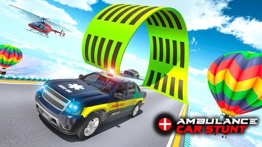 Ambulance Car Stunts: Mega Ramp Stunt Car Games 2.1 screenshots 7
