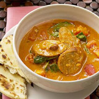 Sausage Curry with Herbed Yogurt.
