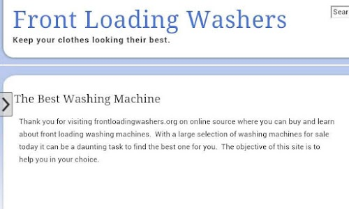Front Loading Washers screenshot 0