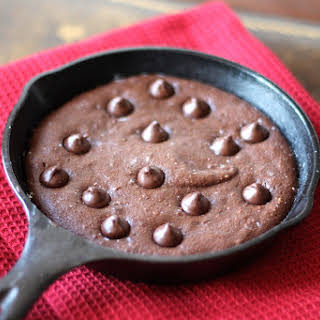 Fudgy Paleo Skillet Chocolate Cake for Two.