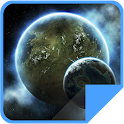 Space Landscape live wallpaper icon