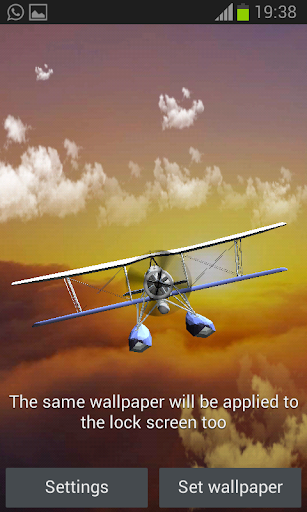 Plane in the sky 3D
