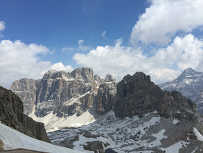 Photo: Old seabed, dolomite, weathers in extreme planes.