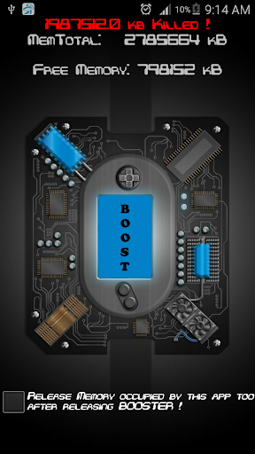 < 3 GB RAM Booster