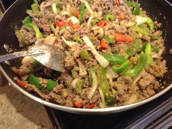 Add the processed roast beef  from the food processor to the skillet. Taste...