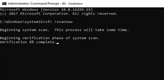 performing sfc scan
