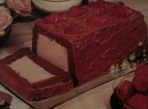 Delicious Chocolate Cake With Strawberry Mousse Filling