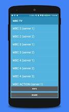 MBC Arabic live TV - mbc2, mbc3, mbc4, mbc action 12 latest apk