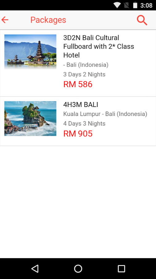 Last Minute Booking- screenshot