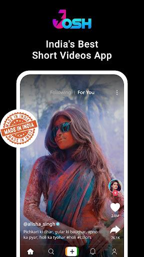 Josh - Made in India | Short Video App 1.0.17 screenshots 1