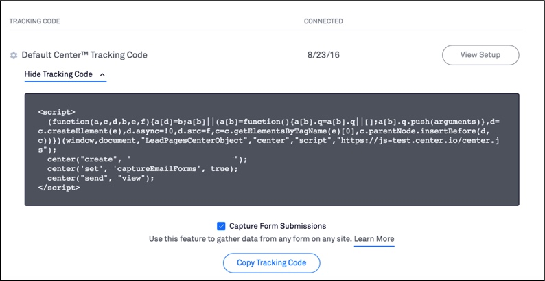 tracking code view 1