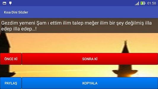 Kısa Dini Sözler screenshot 9