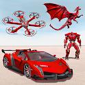 Drone Robot Car Transforming Game– Car Robot Games icon