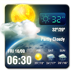 3D Live Weather Alert Widget