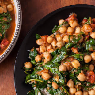 Indian Chickpea Curry with Spinach.