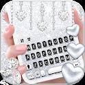 Silvery Glitter Keyboard Theme icon