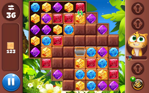 Gemmy Lands: New Jewels and Gems Match 3 Games modavailable screenshots 13