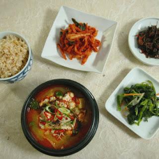 Soft Tofu and Vegetable Soup.