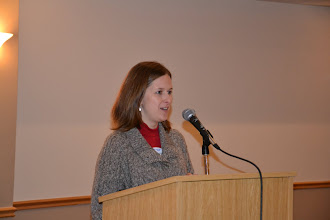 Photo: YEA Chair Trudy Lucas announced the upcoming YEA event