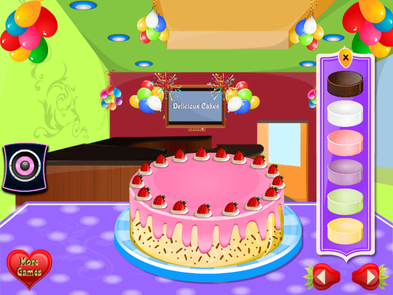 Delicious Cake Decoration Android App Screenshot
