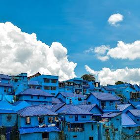Blue Village by Achmad Sutanto - City,  Street & Park  Historic Districts ( #village, #blue )