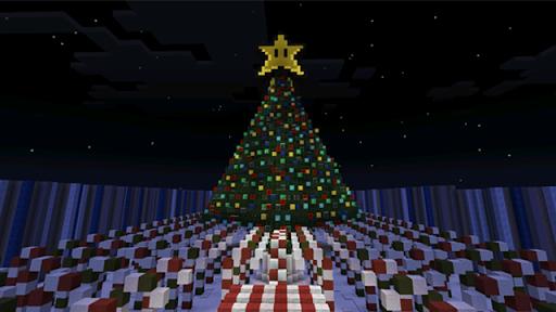聖誕跑酷地圖的Minecraft